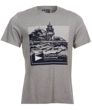 Men's Barbour Break Graphic Tee - Grey Marl
