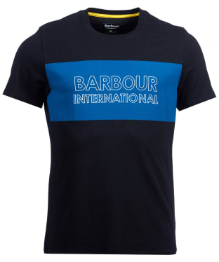 Men's Barbour International Panel Logo Tee - Black