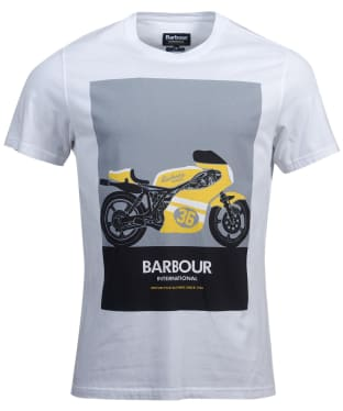 Men's Barbour International Posterise Tee - White