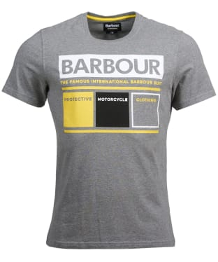 Men's Barbour International Squares Tee - Anthracite Marl