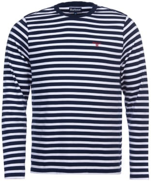 Men's Barbour Bow Long Sleeve Stripe Tee - Navy