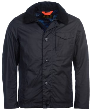 Men's Barbour Bunt Waxed Jacket - Navy