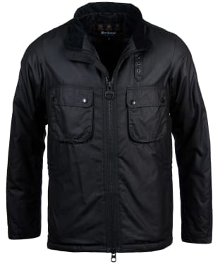 Men's Barbour International Tennant Waxed Jacket - Black