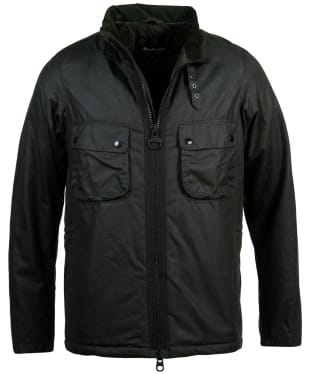 Men's Barbour International Tennant Waxed Jacket - Sage