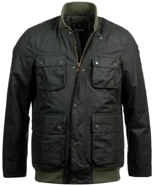Men's Barbour International Edhill Waxed Jacket - Sage