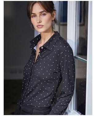 Women's Crew Clothing Jersey Shirt - Black Dot