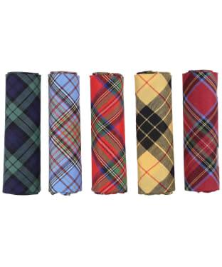 Men's Soprano Pack Of 5 Tartan Handkerchiefs - Multi