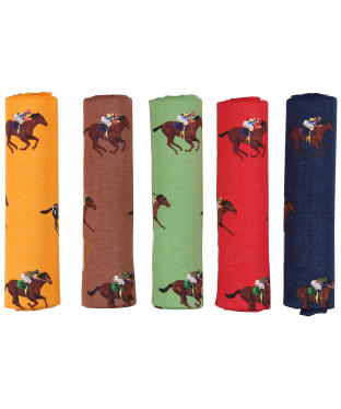 Men's Soprano Horse Racing Handkerchiefs - Multi