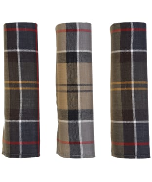 Men's Barbour Tartan Pocket Squares - Tartan Mix