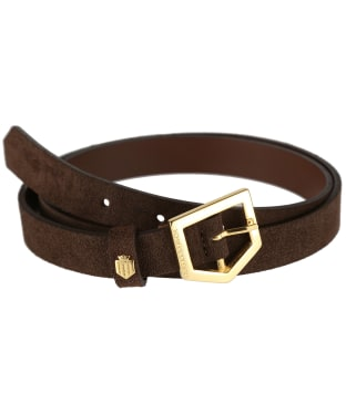 Women's Fairfax & Favor Sennowe Belt - Chocolate Suede