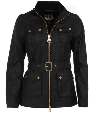 Women's Barbour International Guard Wax Jacket - Black