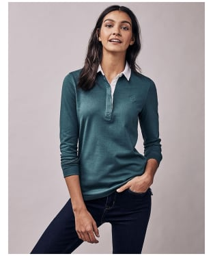 Women's Crew Clothing Classic Rugby Top - Ivy