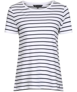 Women's Crew Clothing Breton Tee - White / Navy