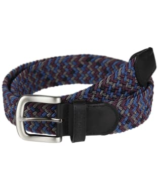 Men's Barbour Tartan Belt Gift Box - Merlot