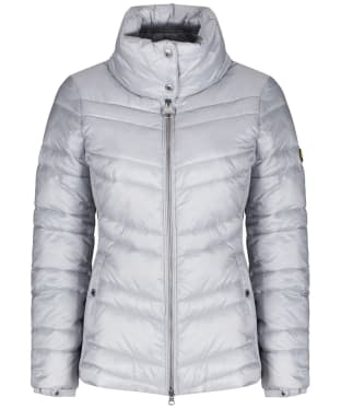 Women's Barbour International Rally Quilt Jacket - Ice White