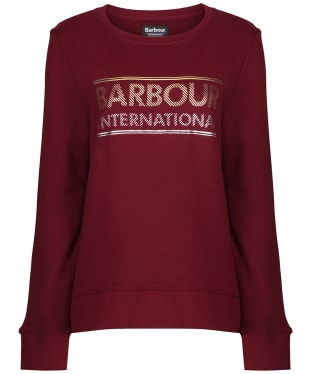 Women's Barbour International Relay Sweatshirt - Dark Rhubarb