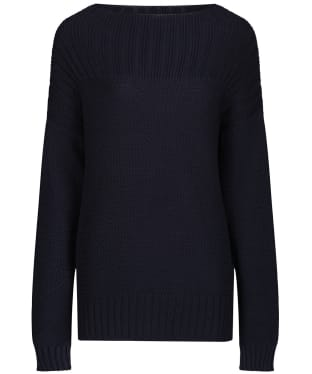 Women's Barbour Stitch Guernsey Knit Sweater - Navy