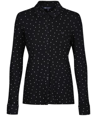Women's Crew Clothing Jersey Shirt - Black Dot