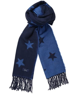 Women's Joules Mardale Woven Scarf - Navy Star