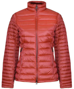 Women's Barbour Clyde Short Baffle Quilted Jacket - Saffron