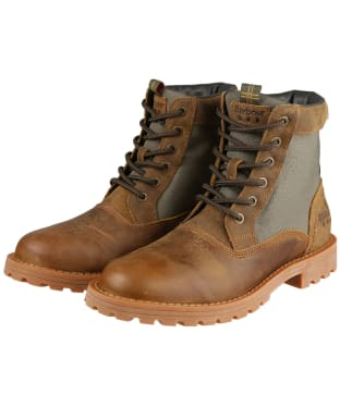Men's Barbour Cheviot Derby Boots - Umber