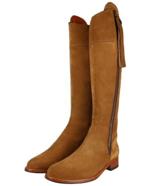 Women's Fairfax & Favor Flat Narrow Fit Regina Boots - Tan Suede