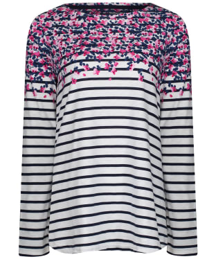 Women's Joules Harbour Light Swing Long Sleeve Jersey Top - Cream Sweetpea