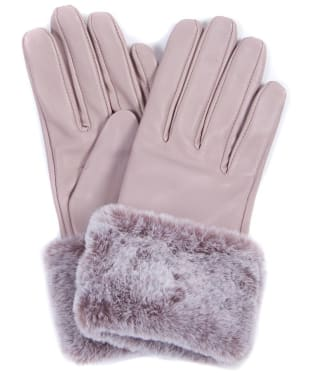 Women's Barbour International Kirk Leather Gloves - Latte