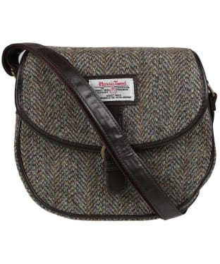 Women's Heather Moira Harris Tweed Saddle Bag - Green / Brown HB