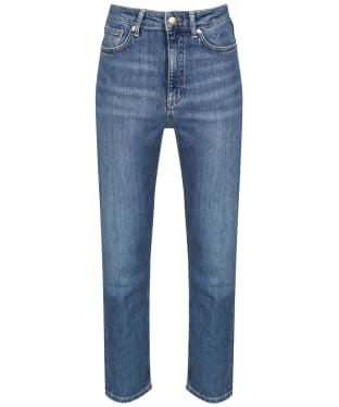 Women's GANT HW Slim Cropped Classic Jeans - Semi Light Indigo Worn In