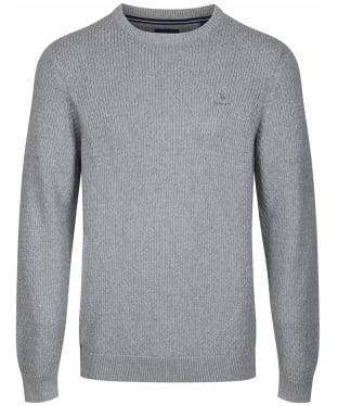 Men's GANT Honeycomb Crew Sweater - Grey Melange