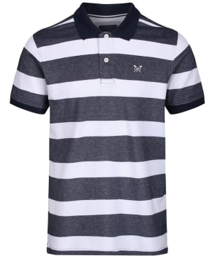 Men's Crew Clothing Oxford Polo Shirt - Navy / White