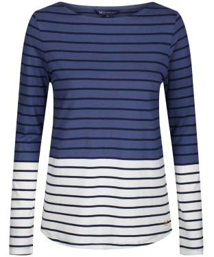 Women's Crew Clothing Interest Breton Top - Navy Stripe