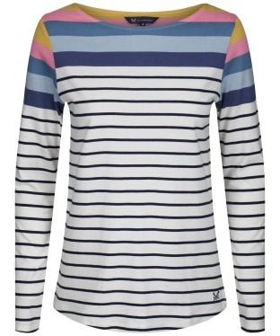Women's Crew Clothing Interest Breton Top - Blue Stripe