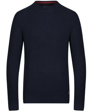 Men's Crew Clothing Funnel Neck Rib Knitted Jumper