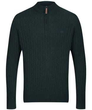 Men's Crew Clothing Fareham Half Zip Jumper - Black Pine Marl