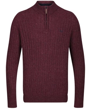 Men's Crew Clothing Fareham Half Zip Jumper - Port Royale Marl