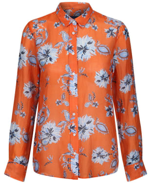 Women's GANT Marine Paisley Co Silk Shirt - Amberglow