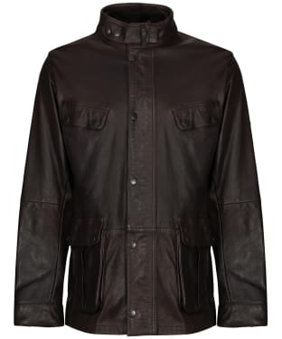 Men's Barbour International Hurricane Leather Jacket