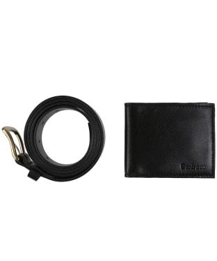 Men's Barbour Leather Belt and Wallet Gift Set