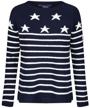 Women's Joules Seaport Jumper - Navy / Cream Stripe