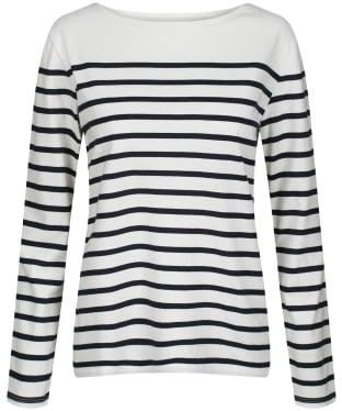 Women's Seasalt Sailor Shirt - Falmouth Breton Chalk Midnight