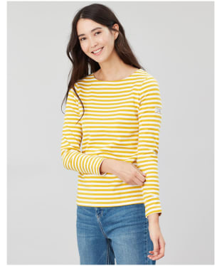 Women's Joules Harbour Long Sleeve Top - Gold Stripe