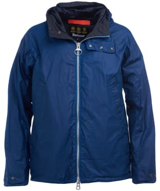 Men's Barbour Orta Waxed Jacket - Poseidon