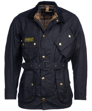 Men's Barbour International Original Wax Jacket - Navy