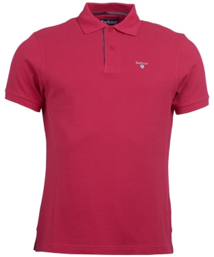 Men's Barbour Tartan Pique Polo Shirt - Fuchsia