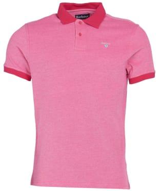 Men's Barbour Sports Polo Mix Shirt - Fuchsia