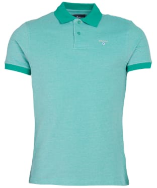 Men's Barbour Sports Polo Mix Shirt - Kingfisher