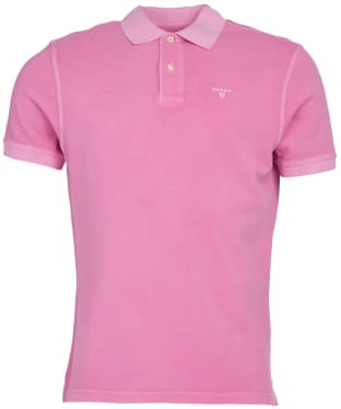 Men's Barbour Washed Sports Polo - Mauve