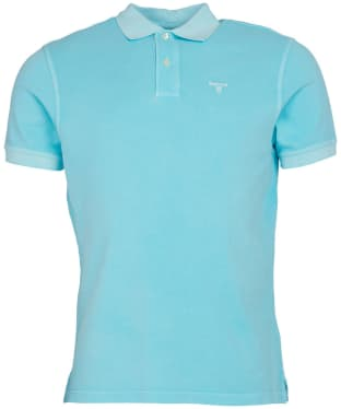 Men's Barbour Washed Sports Polo - Aquamarine